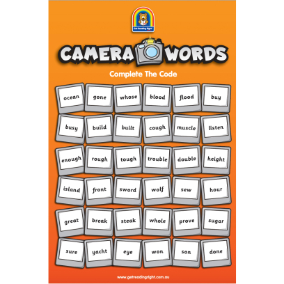 Camera Word Poster – Part 3 Square