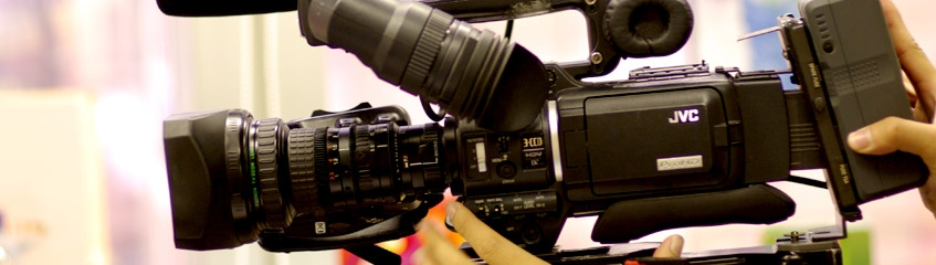 Picture of JVC video camera.